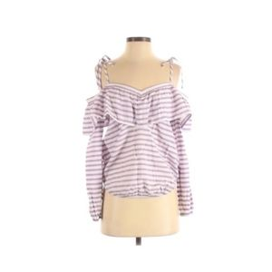 Express small cold shoulder boho top striped